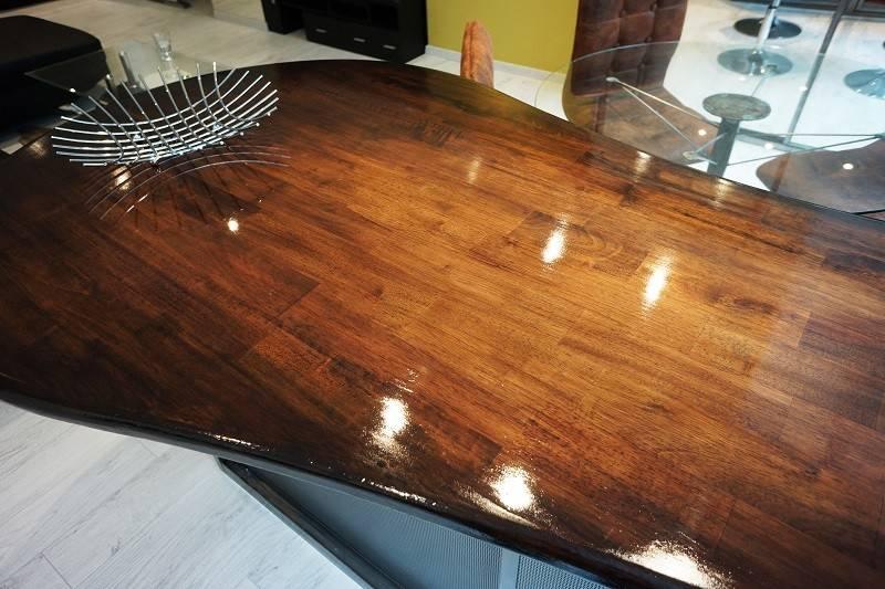 cr ation et installation d 39 un plan de travail en bois et m tal avec table int gr e toulon nad. Black Bedroom Furniture Sets. Home Design Ideas