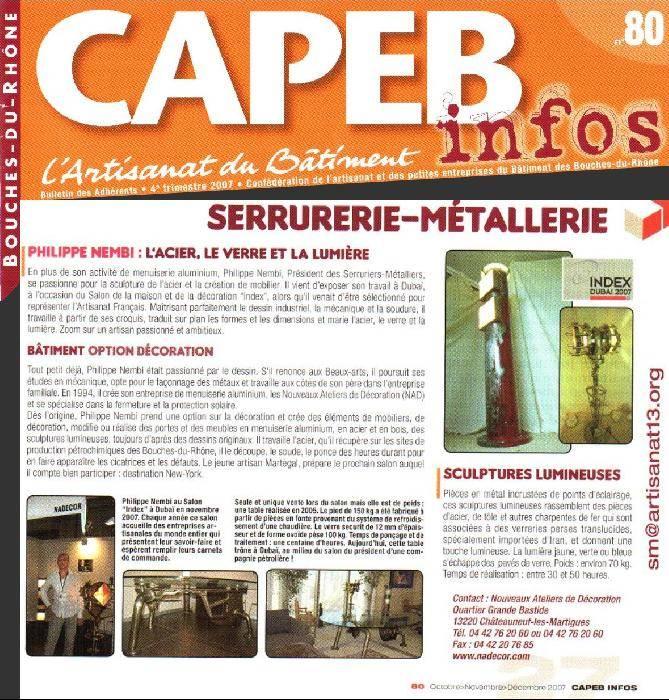 capeb infos l 39 artisanat du b timent 4 me trimestre On artisanat du monde bouche du rhone