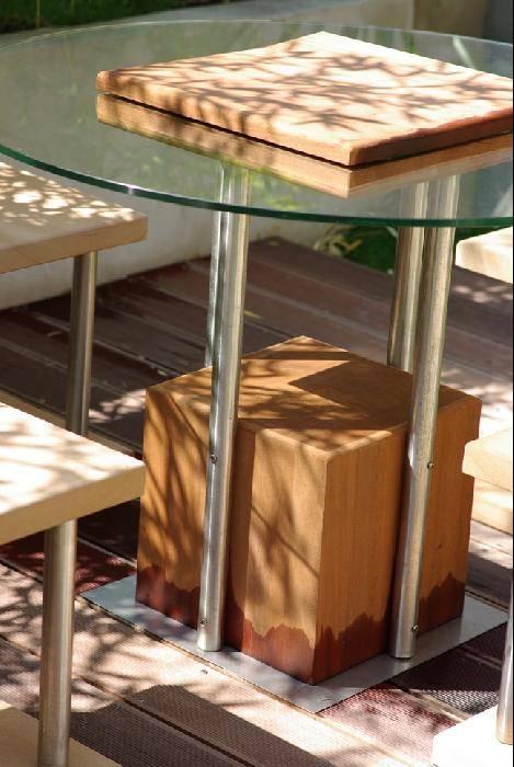 cr ation de mobilier de jardin en m tal bois et verre